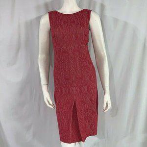 CHANEL Resort 13C  Cruze Red Brocade Flower Dress